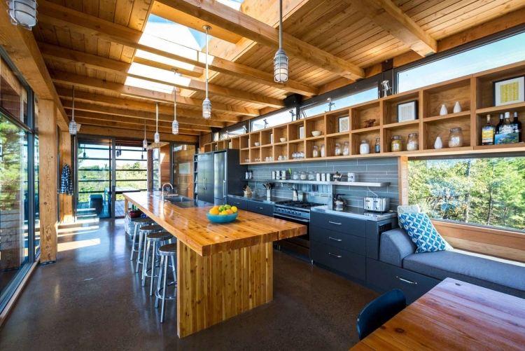 Moderne Massivholz Esstische sorgen fr warmes Ambiente im Raum