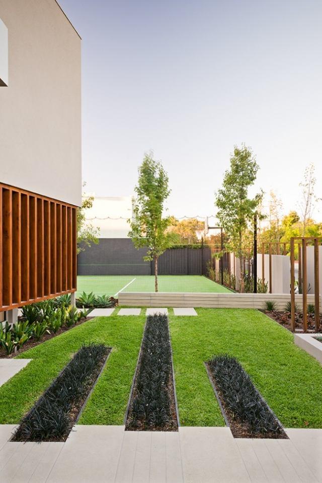 vorgarten gestaltung landschaftsbau modern minimalistisch baum,