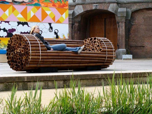 53 Gartenbank Design Ideen aus Holz Stein  Schmiedeeisen