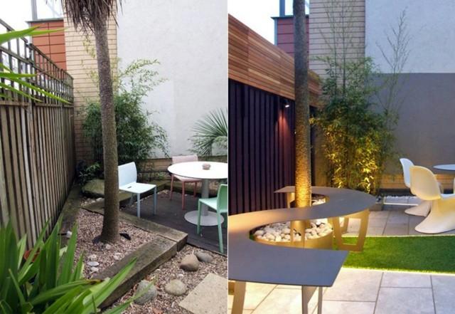 moderne terrasse gestalten lichterkette pool pictures » terrasse, Gartengerate ideen