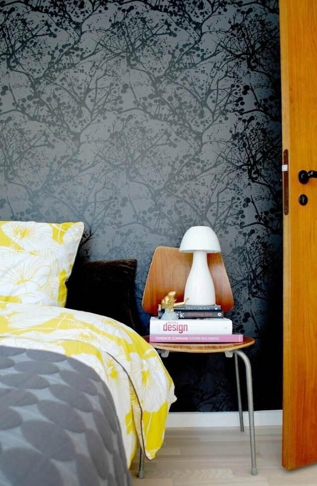 Gemusterte Tapeten verleihen dem Wohnraum Modernitt und