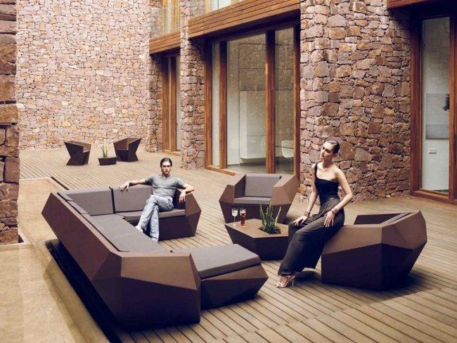 terrasse lounge mobeln einrichten | haus design ideen, Terrassen ideen