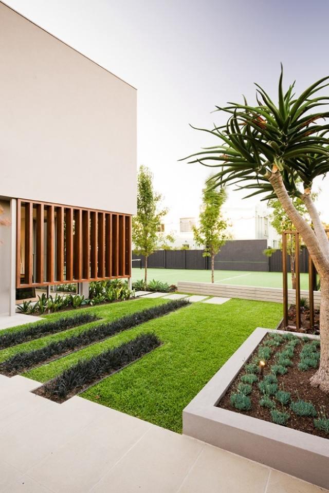 gartengestaltung holz platten hinterhof modern - boisholz, Garten und erstellen