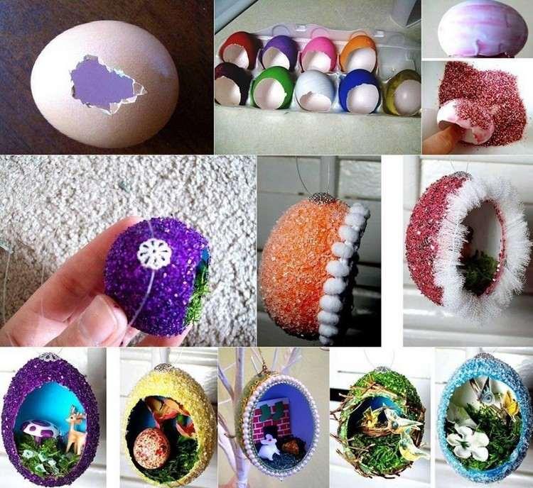 Frhlingsdeko basteln  30 Ideen mit Eierschalen zum