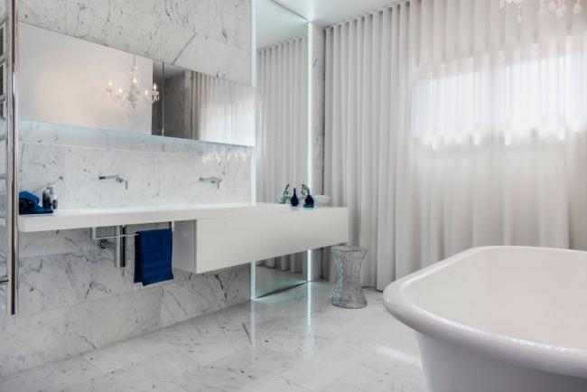 Luxus Bad Fliesen Wei Er Marmor Moderne Bad Mobel Gardinen