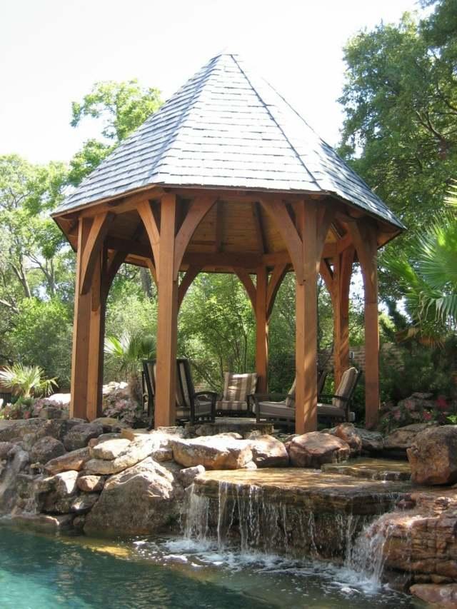 Holzpavillon Im Garten Stilvolle Alternative Zu Der
