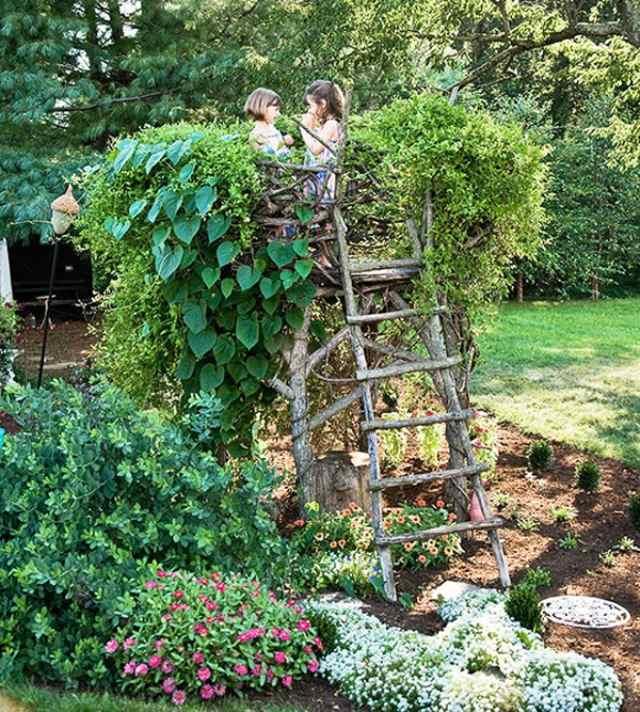 gartengestaltung ideen klein haus gestalten freude bereiten - boisholz, Hause und garten