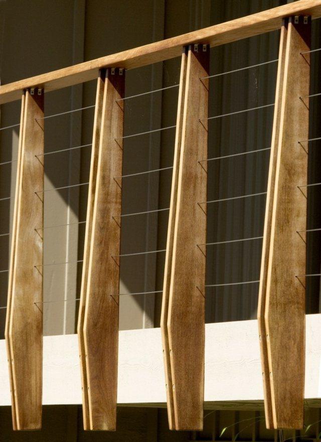 Neue Gelnder fr Terrasse und Balkon  aus Holz Edelstahl oder Glas