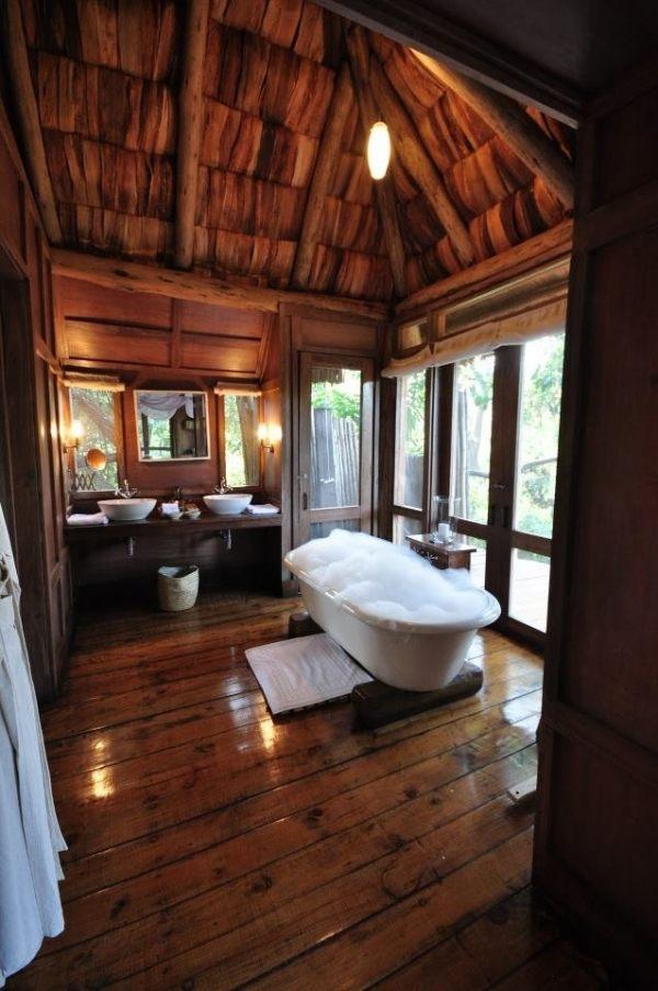 Ein rustikales Badezimmer fr eine entspannende Atmosphre