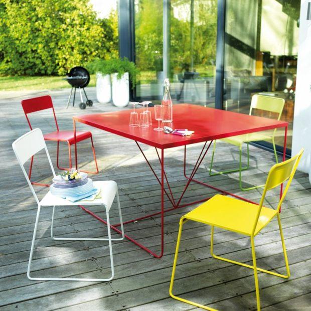 gartenmobel metall grun » terrassenholz, Gartengerate ideen