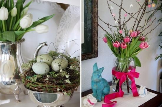 32 Ideen fr eine erfrischende Osterdeko mit Blumen