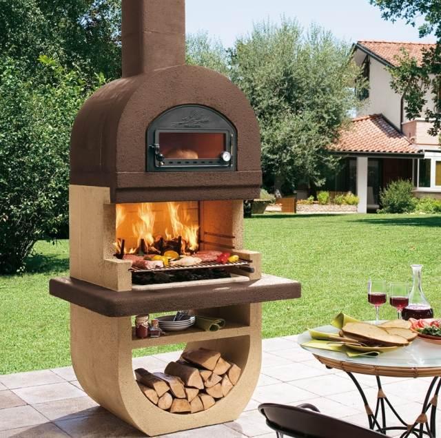garten grillkamin mit pizzaofen » terrassenholz, Garten ideen