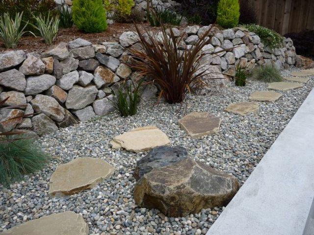 gartengestaltung mit steinen und pflanzen | moregs,
