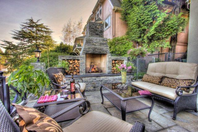 Gartenkamin bauen  29 Ideen fr stilvolles Ambiente auf