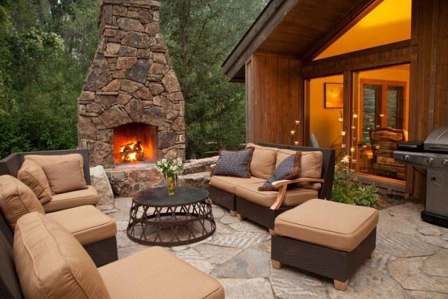 gartenkamin bauen ideen terrasse – usblife, Gartengerate ideen