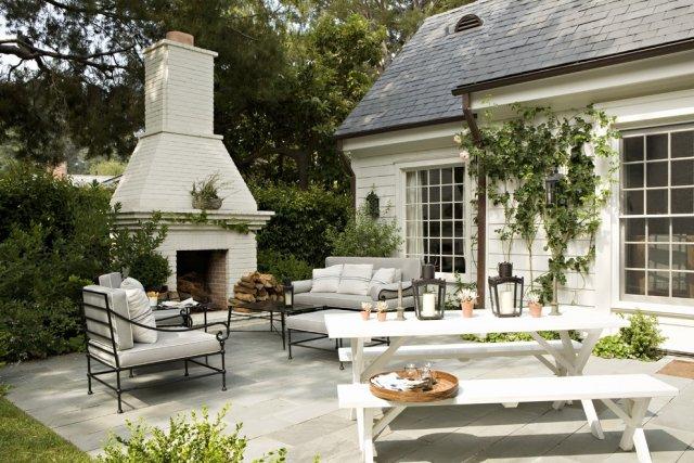 Gartenkamin Bauen Ideen Terrasse | Möbelideen