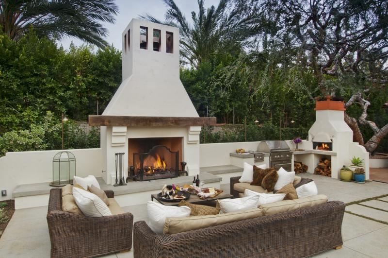 awesome gartenkamin bauen ideen terrasse photos - sohopenthouse