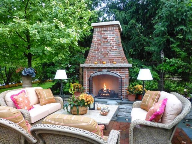 gartenkamin gemauert selber bauen ideen terrasse holz | moregs, Gartengerate ideen