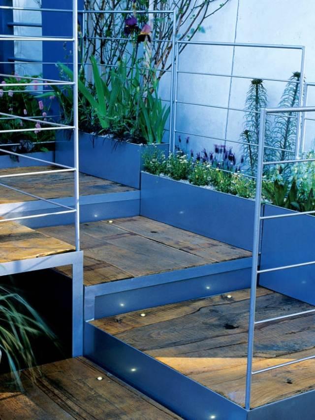 gartenweg treppen verlegen sandstein landschaftsbau design - boisholz,