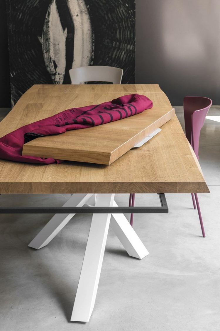 Moderner Esstisch Holz Stahl
