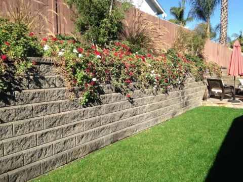 garten terrassenförmig anlegen ideen für stützmauer im garten bauen - hangsicherung und