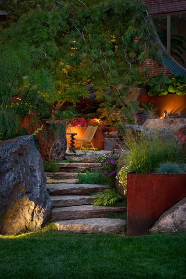 Stunning Ideen Treppenbeleuchtung Aussen Contemporary - Home ...