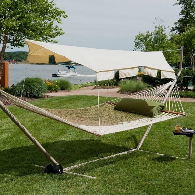 hangematten fur terrasse garten sommerliches flair | möbelideen, Gartengerate ideen