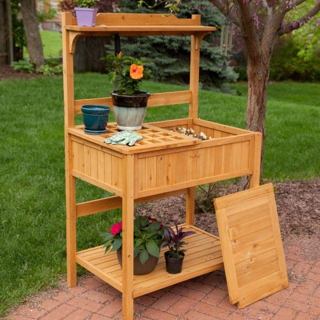 pflanztisch selber bauen garten aus holz oder metall » terrassenholz, Garten und Bauten