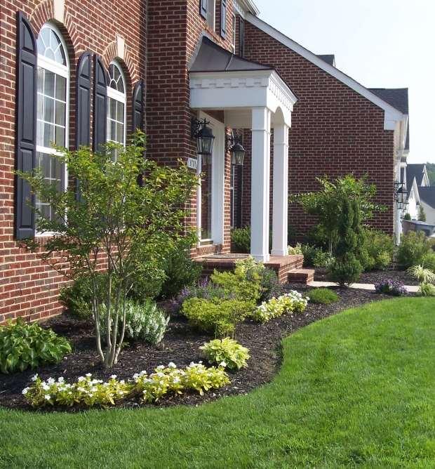 front yard landscape and front walk design entrance walkway, Hause und garten