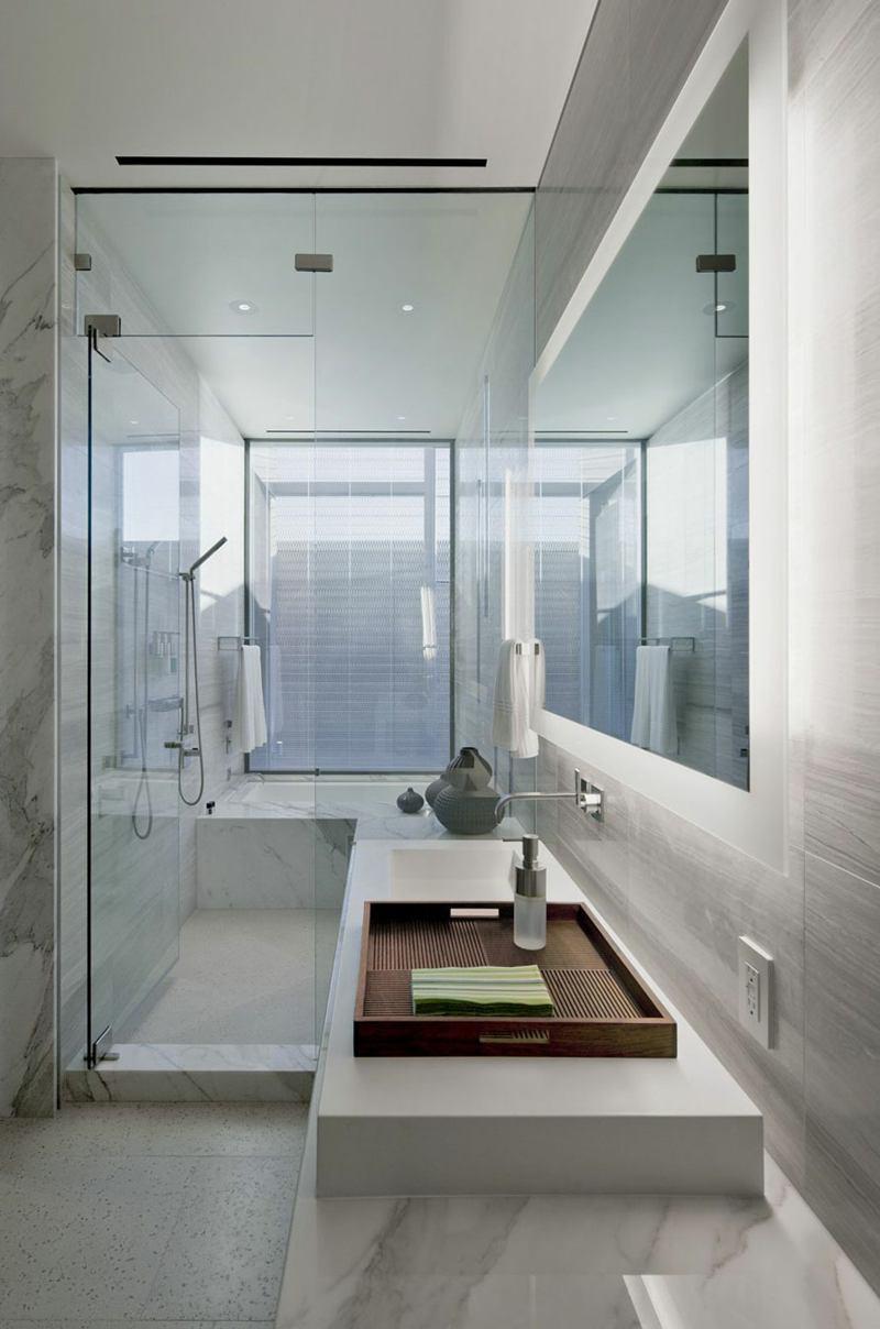 Duschtrennwand Badewanne Bad Mit Dusche Modern Gestalten 31