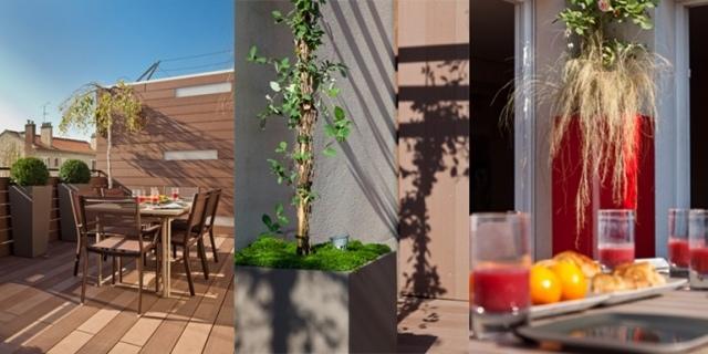 designer pflanzkuebel aus faserzement gruener sichtschutz fuer, Gartengerate ideen