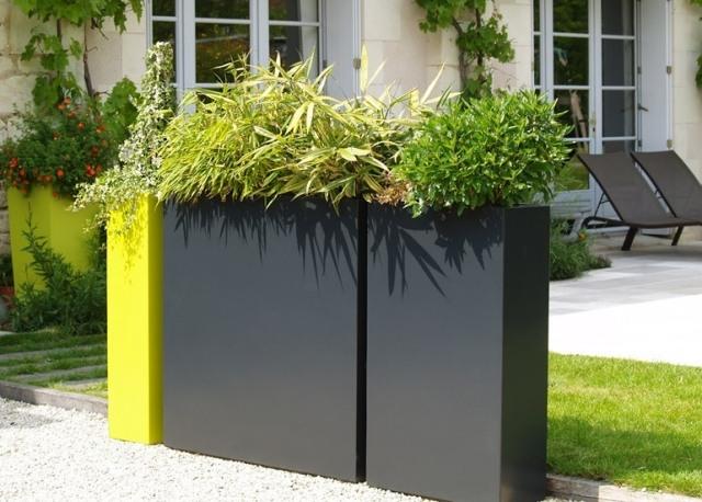 gartengestaltung pflege balkon designer pflanzkubel faserzement, Gartengerate ideen