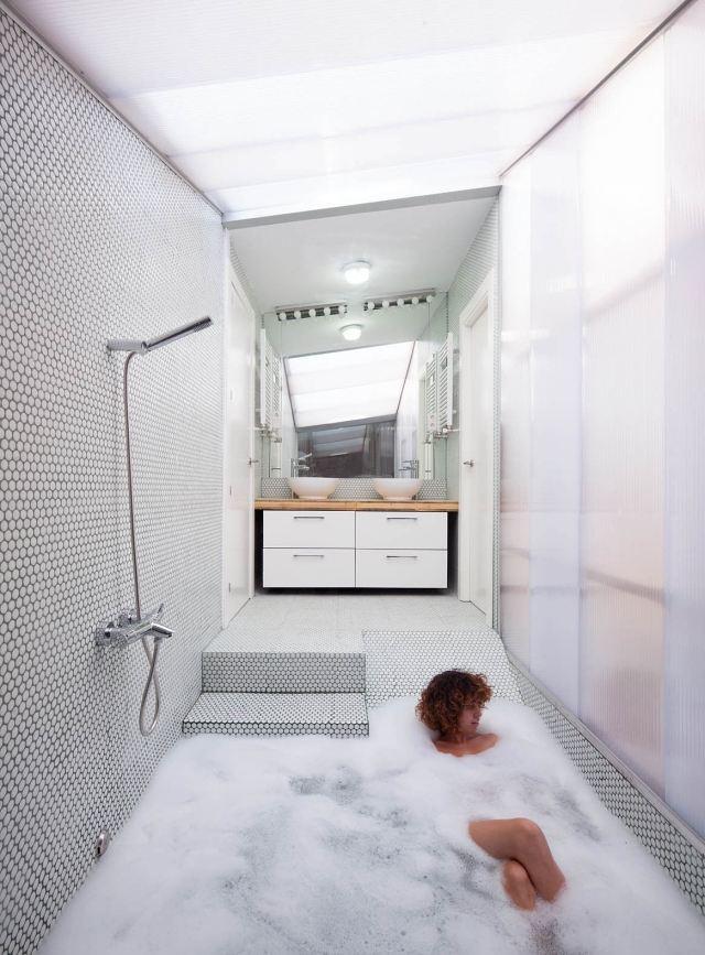 Bad mit Dusche modern gestalten  31 ausgefallene Ideen