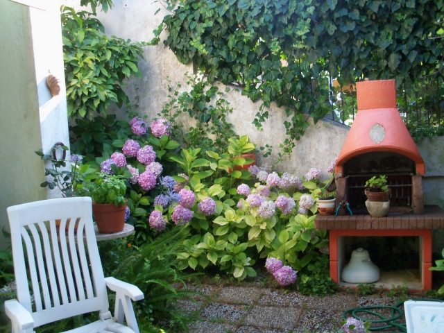 Kleingarten Gestalten  Betonwand Garten Verschönern
