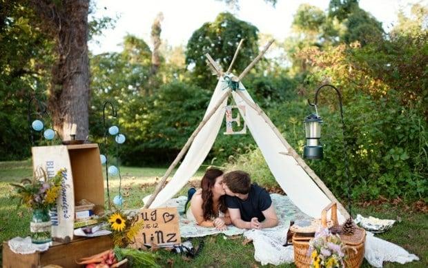 Picknick im Gartenzelt Ideen fr Gartenparty