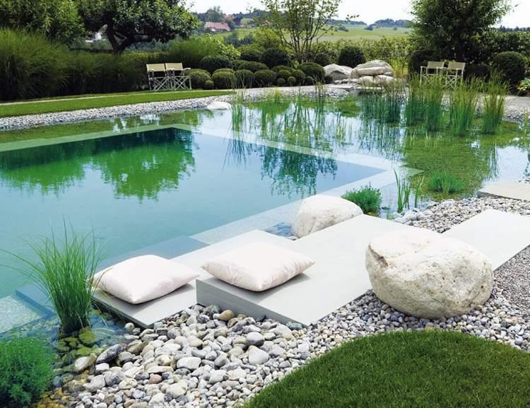 Der kologische Schwimmteich im Garten  Natrliche Wasserreinigung