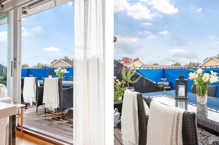sichtschutz fur balkon bespannung blau rattan balkonmoebel sichtschutz fur balkon funktionale und stilvolle ideen
