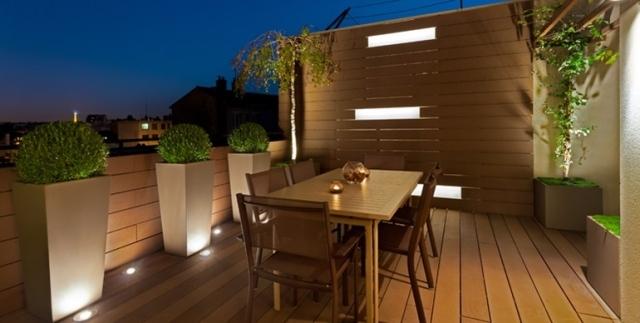 sichtschutz terrasse pflanzkubel pflanzkubel aus faserzement, Gartengerate ideen