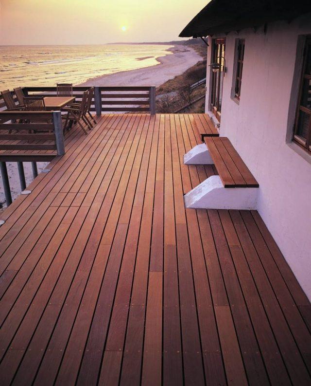 terrasse aus bangkirai | designmore, Terrassen ideen