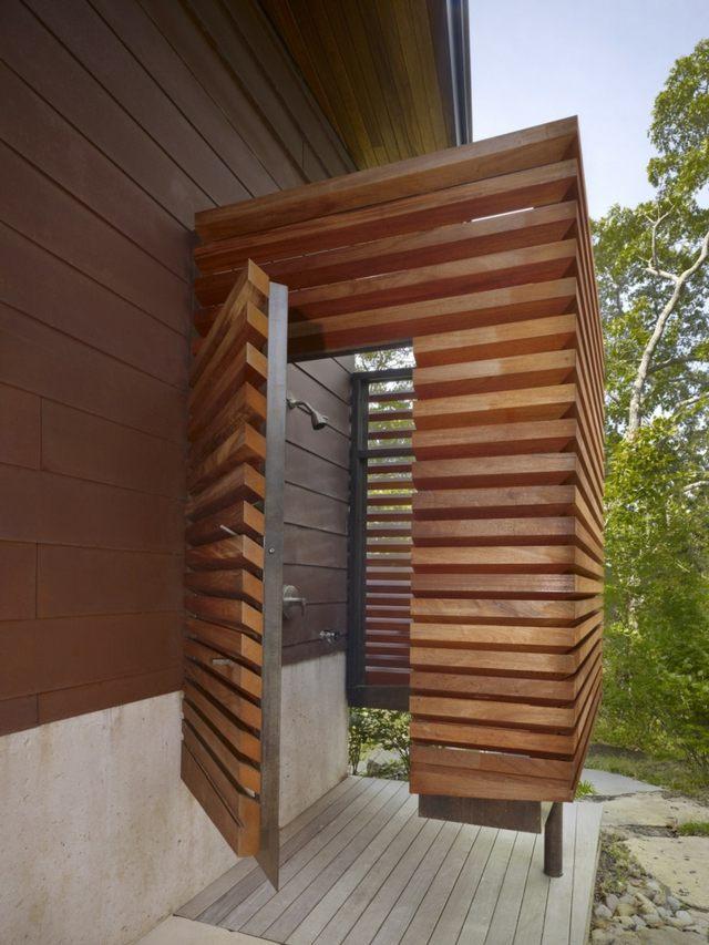 eschenholz terrasse ferienhaus sommerurlaub planen ideen ... - Gartendusche Ideen