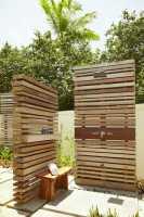 Gartendusche bauen   70 inspirierende Gestaltungsideen für ...