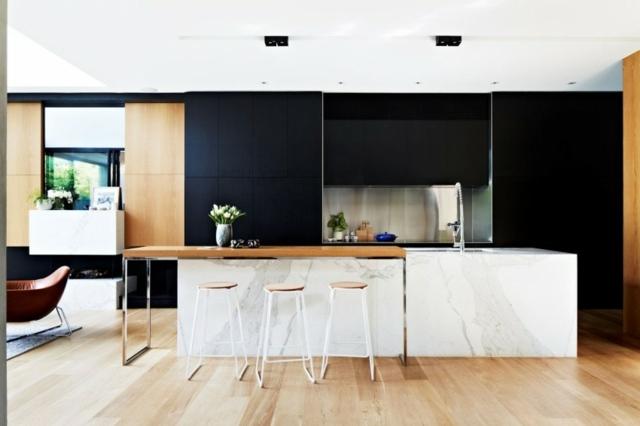 Modernes Einfamilienhaus mit gemtlich eingerichteten Wohnrumen