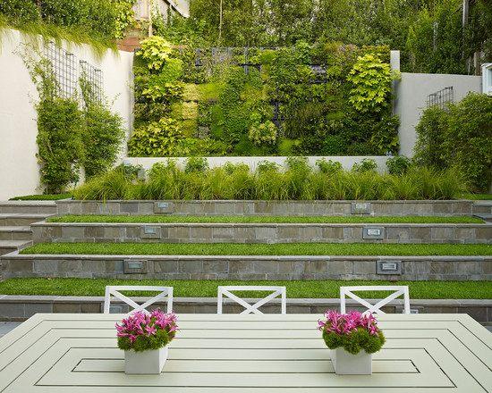 garten am hang gestalten modern terrassen treppen vertikal. Black Bedroom Furniture Sets. Home Design Ideas