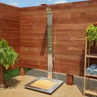 Gartendusche bauen   70 inspirierende Gestaltungsideen