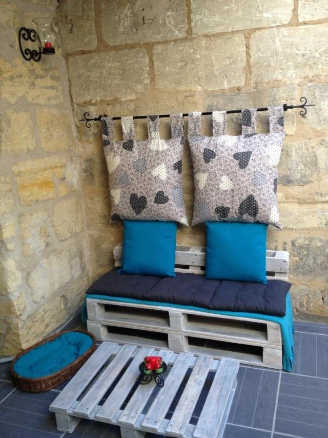 Ideen Fur Palettenmobel Terrasse Sitzecke Sofa Tisch