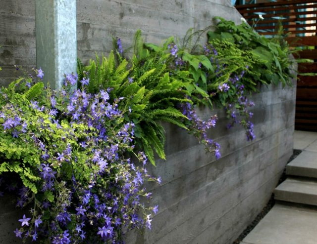 garten am hang anlegen garten pflanzen beet terrassen, Hause und garten