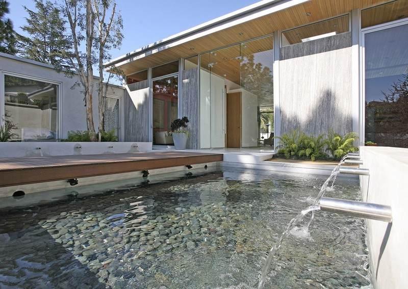 Eingangsbereich Architektonische Abstimmung Von Haus Und