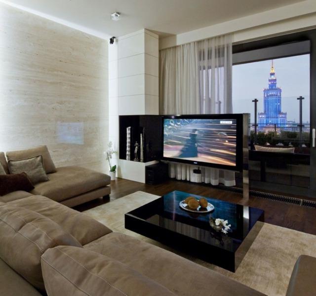 Wohnung Einrichtung  Glamour im eklektischen Stil