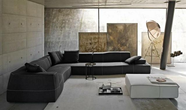 wohnzimmer modern einrichten wei es ecksofa - boisholz, Mobel ideea