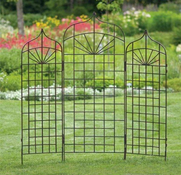 rankgitter fur pflanzen dekorativ metall edelrost backstein, Hause und garten